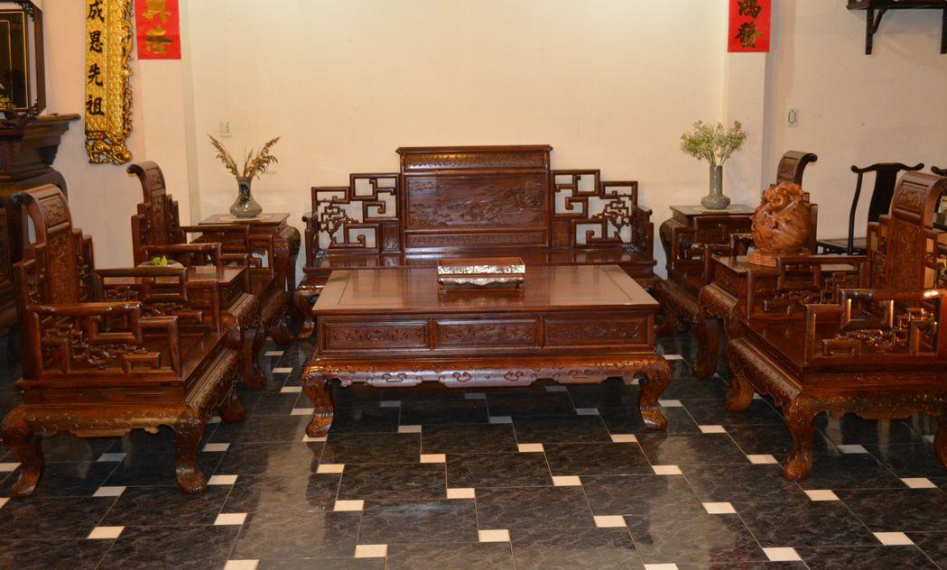 1232 - Bộ salon sơn thủy