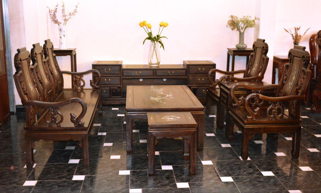 1147 - Bộ salon hoa đào