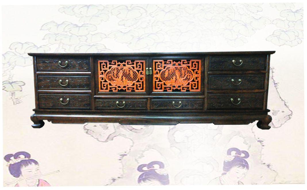 B1232G - Bàn TV sơn thủy